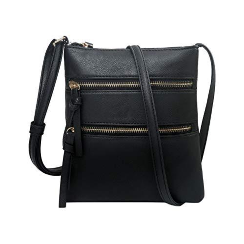 Rovinci Damen PU Leder Schultertasche Kleine Umhängetasche Handtasche Handtaschen Clutches Elegante Riemen Cross Body Taschen Reißverschluss Modisch Schultertaschen Einfarbig Beuteltasche