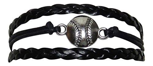 Piel de color negro como Béisbol Encanto Multi Strand pulsera de deportes