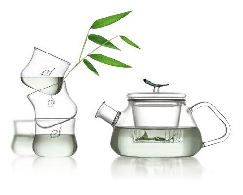 Tea Soul B6021836 Service Á Thé Théière et 4 Tasses Verre