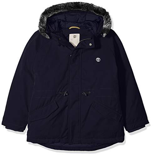 Timberland parka a capuche cappotto, bleu (indigo blue beige 85t), 8 anni bambino