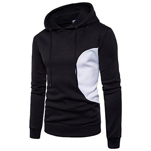 GreatestPAK Langarm-Hoodie Männer Jacken Farben Oberbekleidung Jacke Outwear,Schwarz,XXXL (Shark Reef)
