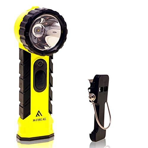 LED-MARTIN® M-FIRE Feuerwehr Handlampe inkl. Zubehör Paket - Winkelkopf - Knickkopf - ATEX