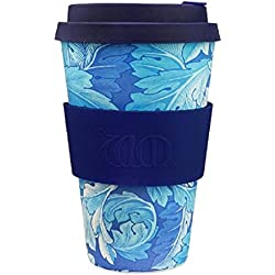 Ecoffee Cup + William Morris: Acanthus with Deep Blue Silicone 14oz