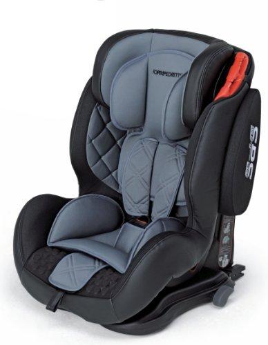 Foppapedretti Isodinamyk Seggiolino Auto, Gruppo 1/2/3 (9-36kg), per Bambini da 9 Mesi fino a 12 Anni, Grigio