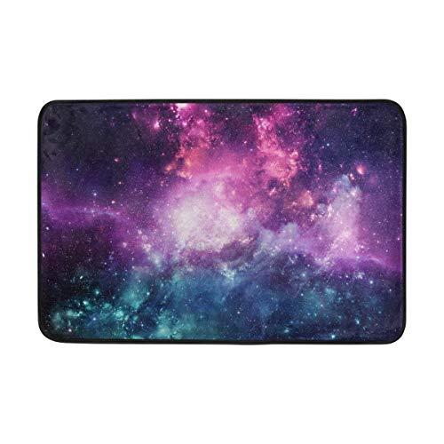 0efe77be469b ALAZA Fantasy Galaxy Nebula Universe Space Felpudo Interior Exterior  Entrada Suelo Alfombra baño 23,6 x 15,7 Pulgadas