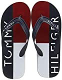 Tommy Hilfiger Hilfiger Print Beach Sandal, Infradito Uomo, Blu (Midnight 403), 42 EU