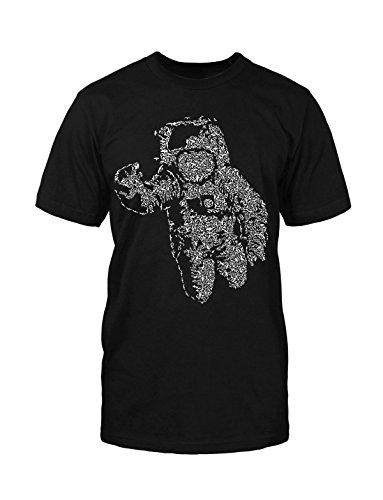 Astronaut T-Shirt Neu Fun Air Weltall Universum Fly Hipster Blogger Fashion Kult Schwarz