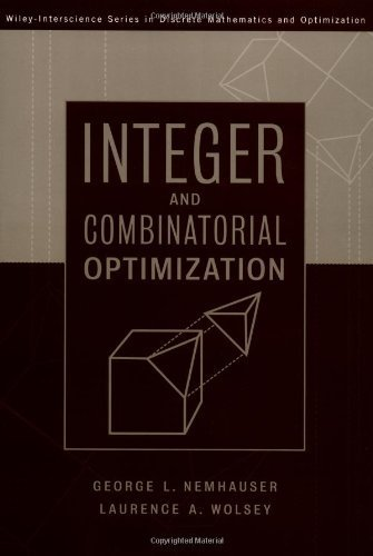 Integer and Combinatorial Optimization (Wiley Series in Discrete Mathematics and Optimization) by Laurence A. Wolsey (1999-07-22)