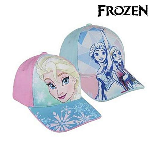 Disney frozen 2200002848 cappello visiera, cotone, bambina, multicolore (rosa)