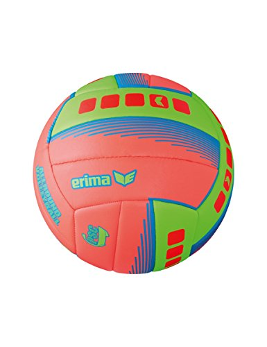 Erima Allround Volleyball, Fiery Coral/Green, 5