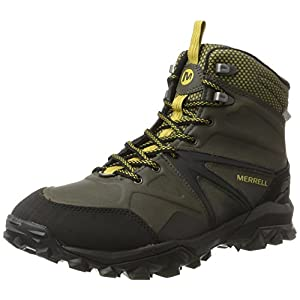 417MkfxftsL. SS300  - Merrell Men's Capra Glacial Ice+ Mid Waterproof High Rise Hiking Boots