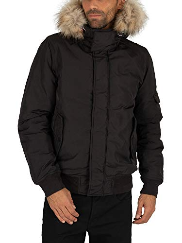 Tommy Jeans Herren TJM TECH Jacket Jacke, Schwarz (Tommy Black BBU), Medium (Herstellergröße:M)