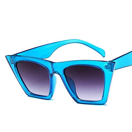 YKDDGG Mode-Accessoires Sonnenbrillen Stil Vintage Sonnenbrille Frauen der 90er Jahre Mode Sonnenbrille Female Lady Shades2-Blue