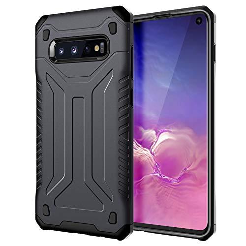 JETech Custodia Compatibile Samsung Galaxy S10, Cover di Dual Layer Protettiva con Assorbimento degli Urti, Grigio