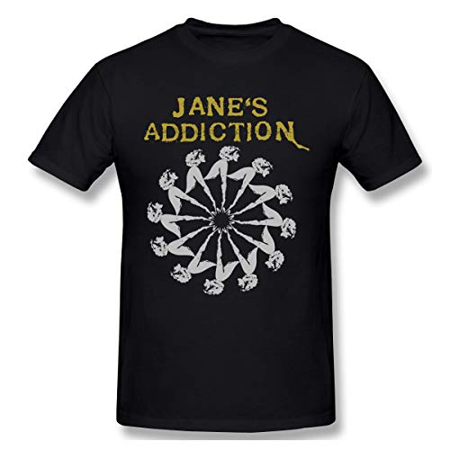 Fomente Jane's Addiction Herren Weich T Shirt Black 5XL