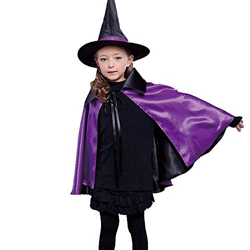 Doppel Kinder Kostüm - KDGB Halloween Kostüme, Requisiten, Kinder Hexen, Doppel Mäntel, Schals, Make-Up Und Requisiten.
