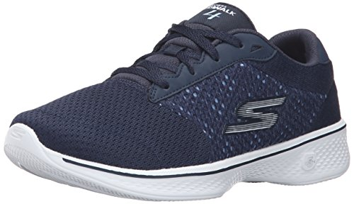 Skechers Damen Go Walk 4-Exceed Sneakers, Blau (NVW), 37 EU (Running Sneakers Skechers)