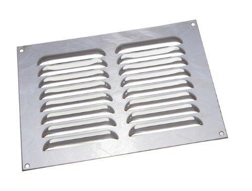 Kühlergrill verchromt Louvre ventilation Deckel 9 x 6 Zoll (Packung mit 12)