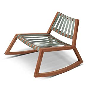 Skagerak sedia a dondolo in legno di tek avio amazon for Sedia a dondolo amazon