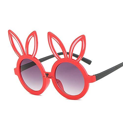 MoHHoM Sonnenbrillen Für Kinder,Niedliche Kaninchen Form Flexible Kinder Sonnenbrille Uv 400 Brillen Farben Kleinkind Kind Baby Kinder Sicherheit Polarisierte Sonnenbrille Rot