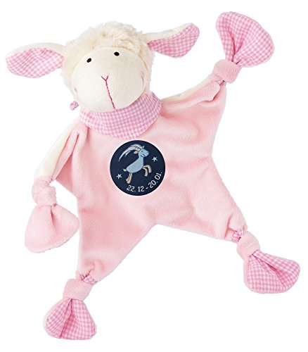 sigikid, Mädchen, Schnuffeltuch, Schaf mit Sternzeichen Steinbock, Rosa, 48825