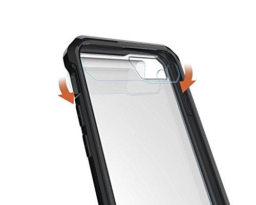 LEMORRY Apple iPhone 8 Coque Etui, Ultra Mince Transparente Transparent Soft Caoutchouc TPU Silicone + Hard PC Supreme Protecteur [Absorption des chocs] Rear Bumper Etui Housse Cover pour Apple iPhone Noir
