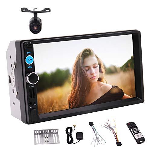 EINCAR Doppel-DIN-Autoradio, 7Inch Touch Screen Radio-MP3 / MP5 / FM-Spieler-Unterstützung Bluetooth/USB/TF mit Fernbedienung, Unterstützungs-GPS-Navigation mit 8 GB Karten-Karte, Unterstützung