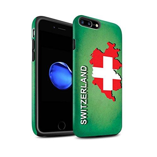 STUFF4 Matte Harten Stoßfest Hülle / Case für Apple iPhone 7 / Kroatien/Kroatische Muster / Flagge Land Kollektion Schweiz/Swiss