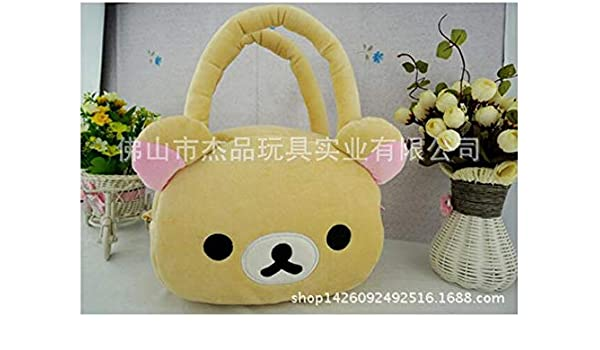 Rilakkuma Cute Big Bag Handbag Messenger Shoulder Bag Plush Relax Brown Bear Shoulder Bags Women's Bags