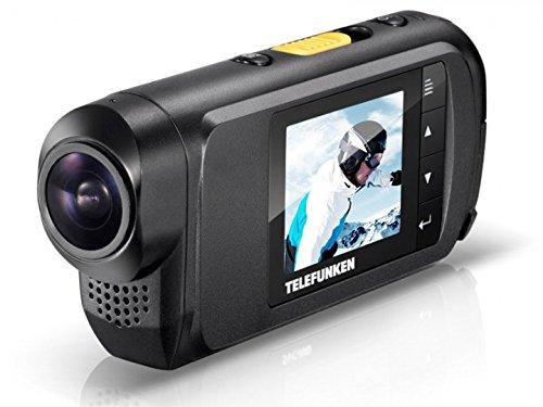 Telefunken FHD170/5 Full-HD Aktion Kamera (mit Helmhalterung und wasserdichtem Gehäuse, Motorrad - Kauftipp)