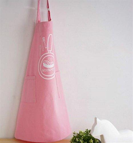 SunnyGod Hausfrau-Schürze Einfaches Kochen Schürze gedruckt Schürze Reine Farbe Schürze...