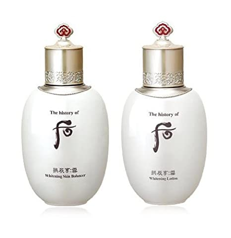 The History of Whoo SPECIAL EVENT(8~15 days INTERNATIONAL SHIPPING)!!!!!! Gongjinhyang Seol Whitening Skin Balancer (All skin /130ml) + Whitening Lotion (All Skin/ 110ml)