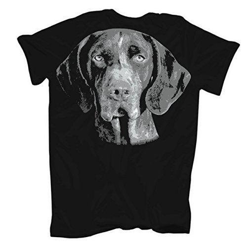 Männer und Herren T-Shirt Deutsch Kurzhaar (mit Rückendruck) Schwarz