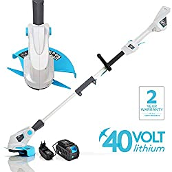 Swift 40V Lithium-Ion Double Blade Lightweight Powerful qualcast Grass Trimmer Grass Edger Lawn Cutter (Tool + 1x Battery + 1x Charger)