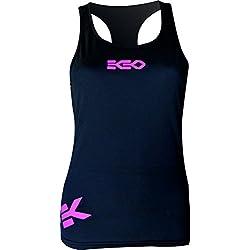 CAMISETA MUJER EKEKO KARMA, Yoga, fitness y deportes en general. (M, NEGRO)