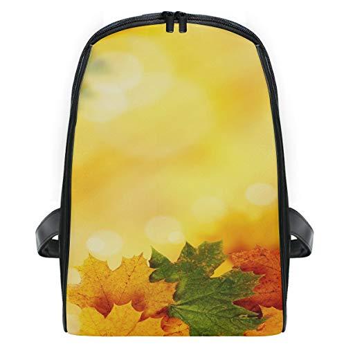 k Herbst Hintergrund mit Ahorn Blätter Rucksack Tasche leicht für Mädchen Jungen ()