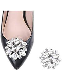 9d2ba4144cbb5 Branded SLB Works New 1PC Crystal Rhinestones Shoe Clips Women Bridal Prom Shoes  Buckle Decor BDAU
