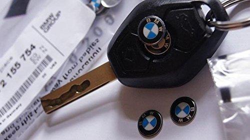 BMW Porte-clés arrondis Logo Emblème badge en 11 mm (66122155754) (Colle n'est pas inclus)