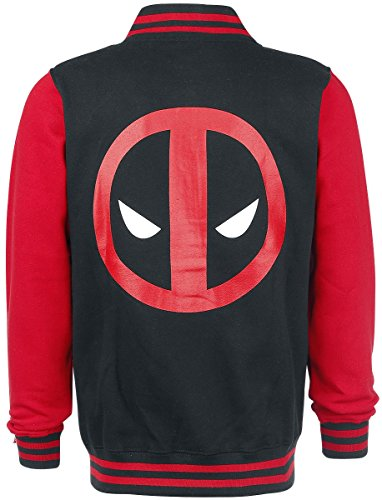 Deadpool Logo College-Jacke schwarz/rot Schwarz/Rot