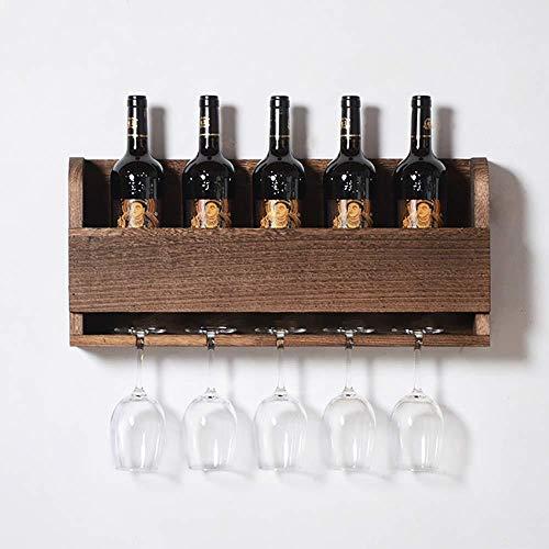 Wandregal Aus Naturholz Für Weinflaschen Stemware Elegante Holzlagerung Für Die Küche Esszimmer Bar Weinkeller