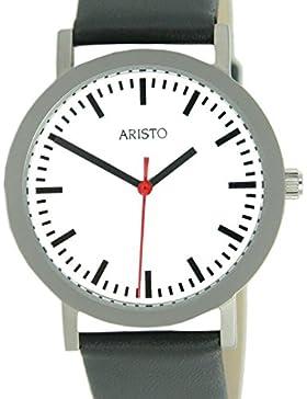 Aristo Damen Uhr Edelstahl Bahnhof 3D03