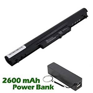 Battpit Batterie d'ordinateur Portable de Remplacement pour HP Pavilion Sleekbook 15-b044sf (2200mah) avec 2600mAh de banque de puissance / batterie externe (Noir)