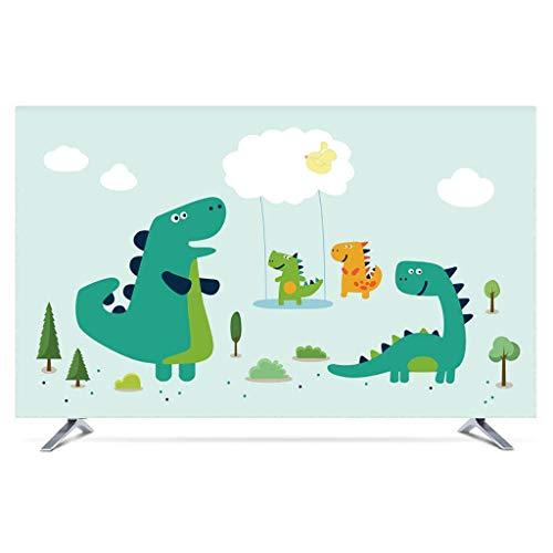 Monitor Hülle Polyesterbezug Staubdichtes, antistatisches LCD- / LED- / HD-Display-Schutzgehäuse Kompatibel mit Curved-TV, Desktop-TV und Hänge-TV 22-80 Zoll-75Zoll-K