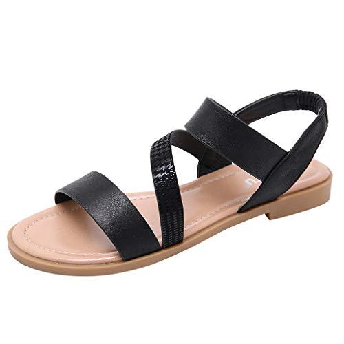 Damen Slingback Sandalen Riemchensandalen Damen Schuhe Sommer Flach Cross-Tied Beach Sandalen Open Toe Walking Schuhe By Vovotrade - Suede Slingback Schuhe
