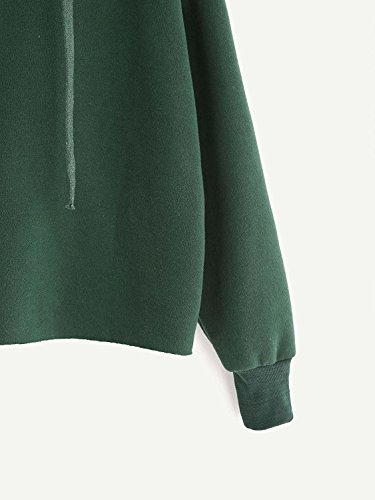 Tomwell Hiver Sweat À Capuche Femmes Manches Longues Hoodie Couleur Unie Sweatshirt Loose Pullover Christmas Tops Vert