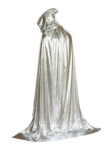 Alien Storehouse [210cm Silber] Halloween Kapuzenmantel Weihnachtsfest Cape Cosplay Kostüm