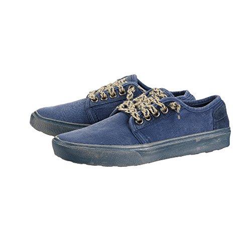Dude Shoes Herren Buster Gewaschen Stahlblau Blau