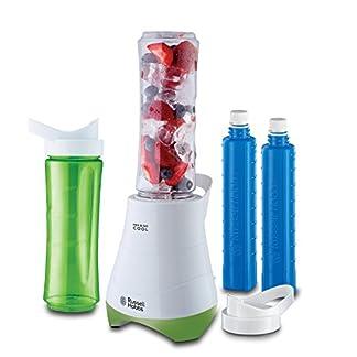 Russell-Hobbs-21350-56-Standmixer-Mix-GoSmoothie-Maker-mit-04-PS-Power-Motor-300-Watt-bis-zu-24000-Umin-zwei-BPA-freie-Trinkflaschen-inkl-Edelstahlmessereinheit