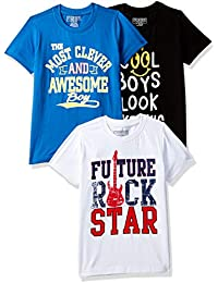 Cherokee Boys' Plain Regular Fit T-Shirt (Pack of 3)