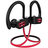 Cuffie Wireless Sport Bass+, Mpow IPX7 Flame Auricolari Bluetooth Sport CVC 6.0, con Qualità Audio HD e Stabile, Cuffie Bluetooth 4.1 In-ear con Eva Borsa per iPhone(IOS), Android - Rosso